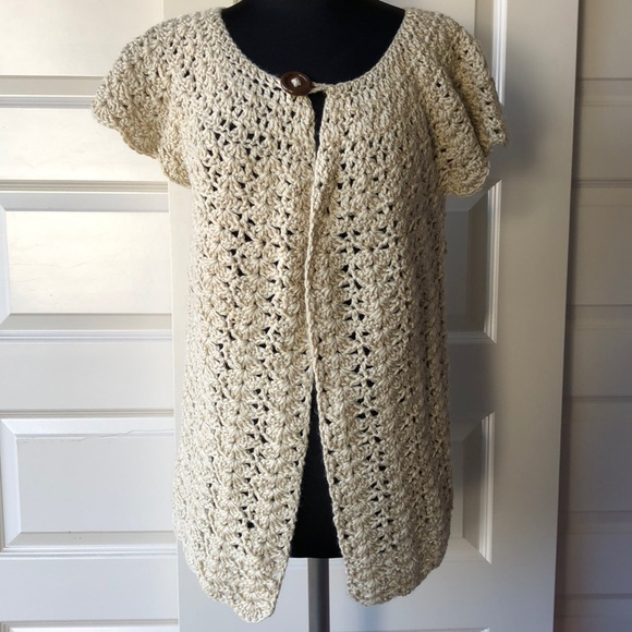 Sweaters Handmade Crochet Short Sleeve Cardigan Poshmark